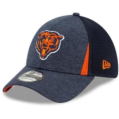 ユニセックス スポーツリーグ フットボール Chicago Bears New Era Alternate Logo Slice Neo 39THIRTY Flex Hat - Navy 帽子