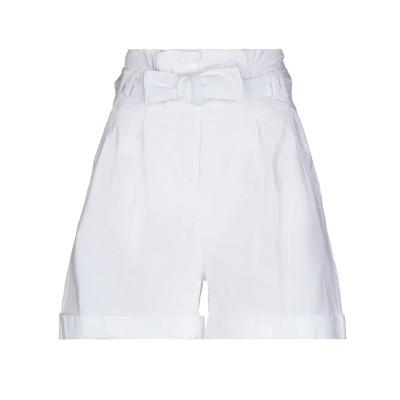 HAPPY25 ショートパンツ ホワイト 44 コットン 97% / ポリウレタン® 3% ショートパンツ
