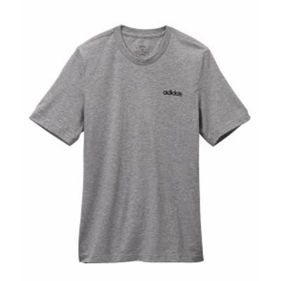 adidas スポーツウェア トップス 大きいサイズ レディース プレーン Tシャツ 男女兼用 ブラック/ホワイト/ミディアムグレイヘザー/ブラッ