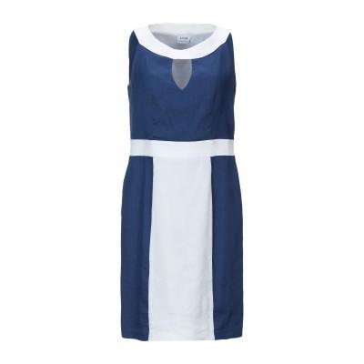 LFDL LA FABBRICA DEL LINO ミニワンピース&ドレス ブルー S 麻 65% / レーヨン 33% / ポリウレタン 2% ミ