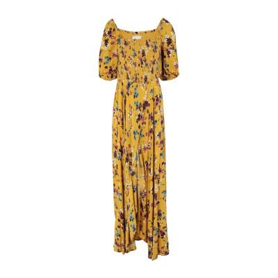 BAND OF GYPSIES ロングワンピース&ドレス イエロー S レーヨン 100% ロングワンピース&ドレス
