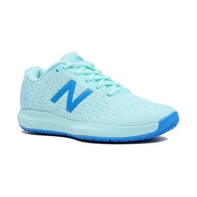 ニューバランス(New Balance) レディース テニスシューズ オムニ/クレーコート フューエルセル 996 バリ ブルー WCO996 G4 D オムニ 砂入り人工芝 クレー 靴