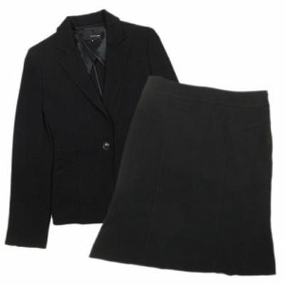 【中古】22オクトーブル 22 OCTOBRE スーツ セットアップ テーラードジャケット 台形スカート ハーフ 36 黒