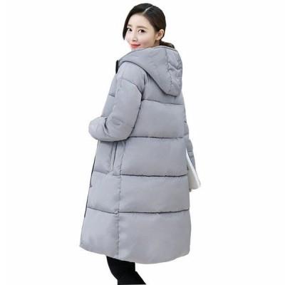 母の日 レディース ダウンジャケット ロング丈 冬 防寒 厚手 修身 シンプル ダウンコート 中綿 暖かい 大きいサイズ アウトドア スリム カジュアル