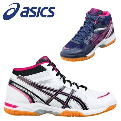 アシックス レディース バレーボールシューズ RIVRE MT ミドルカットモデル インナーソール取り替え式 靴 1052A030 asics