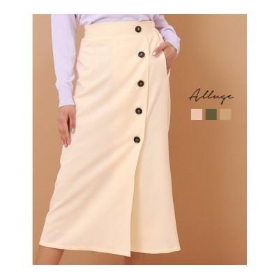 フロントボタンラップスカート(ANAP アナップ ラップスカート ロング  巻きスカート ロングスカート フロントボタン スカート ミモレ丈スカート)