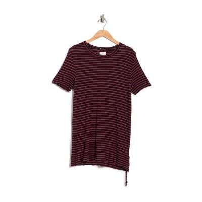 スビ メンズ Tシャツ トップス Sinister Stripe Print T-Shirt RED