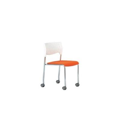 アイコ ミーティングチェア 椅子 会議用イス 会議チェア 肘なし キャスター脚 クロームメッキ MC-231