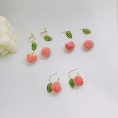 ピーチのイヤリングins甘さシミュレーションピーチの耳飾りT-E279