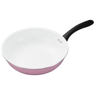 京セラ CF-G28FB-WPK ピンク セラブリッド フライパン 炒め鍋 28cm IH非対応
