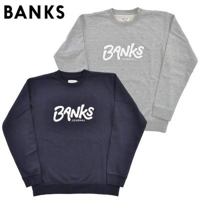 BANKS JOURNAL バンクスジャーナル スウェット トレーナー OUTRO FLEESE 紺 グレー AFL0224