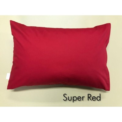 全18色 Mサイズ 枕カバー【スーパーレッド】赤/ピロケース/43cm×63cm/無地/ポイント消化♪