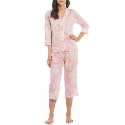 ラルフローレン レディース ナイトウェア アンダーウェア Paisley Printed Woven Capri Pajama Set