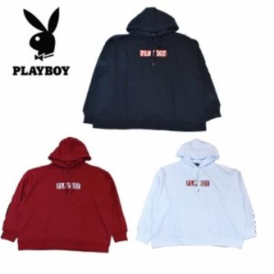 【送料無料】【宅配便】Playboyプレイボーイ トレーナー・パーカー(LL 3Lサイズ)レディース