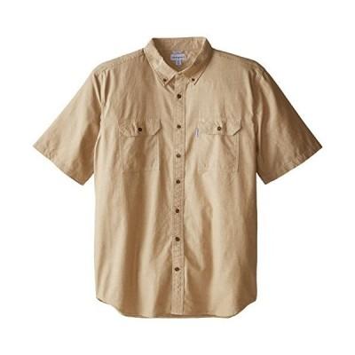 平行輸入品 CarharttメンズBig & Tall Fort半袖シャツ軽量シャンブレーボタン カラー: ブラウン