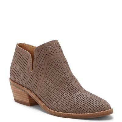 ラッキーブランド レディース ブーツ&レインブーツ シューズ Feyan Perforated Leather Block Heel Booties Titanium