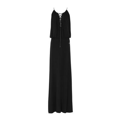 VERSACE ロングワンピース&ドレス ブラック 42 レーヨン 95% / ポリウレタン 5% ロングワンピース&ドレス