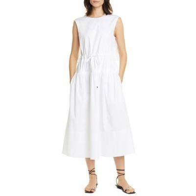 ティビ レディース ワンピース トップス Eco Poplin Sleeveless Midi Dress WHITE