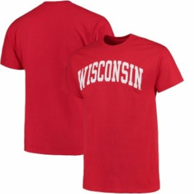 Fanatics Branded ファナティクス ブランド スポーツ用品  Wisconsin Badgers Red Basic Arch T-Shirt