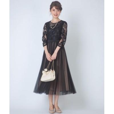 Feroux/フェルゥ 【大人気のため再入荷!】エンブロイダリーLuxe ドレス ブラック系 1
