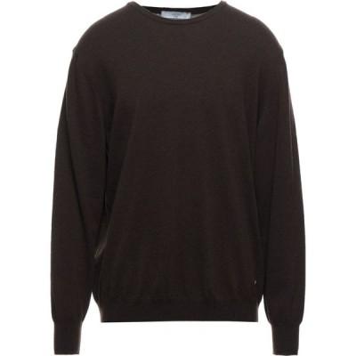 リウジョー LIU JO MAN メンズ ニット・セーター トップス Sweater Dark brown