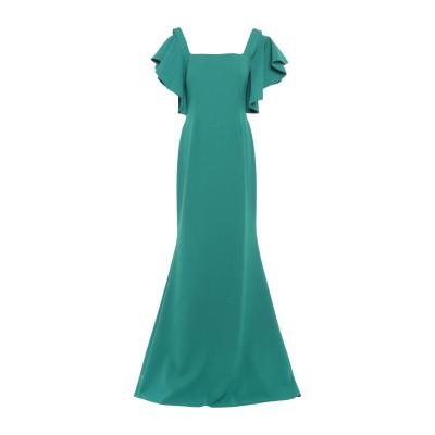 SOANI ロングワンピース&ドレス グリーン 46 ポリエステル 100% ロングワンピース&ドレス