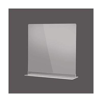 【即日発送】W500×H500mm 透明 アクリルパーテーション アクリル板 仕切り板 卓上 受付 衝立 間仕切り アクリルパネル 滑り止め