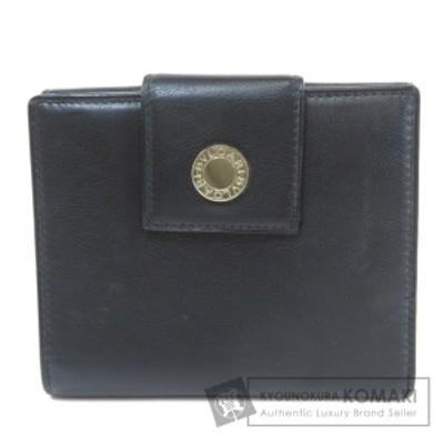 ブルガリ BVLGARI  ロゴ金具  二つ折り財布(小銭入れあり) レザー ユニセックス  中古