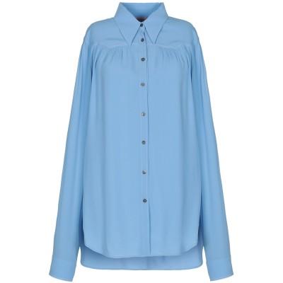ヌメロ ヴェントゥーノ N°21 シャツ スカイブルー 44 アセテート 69% / シルク 31% シャツ