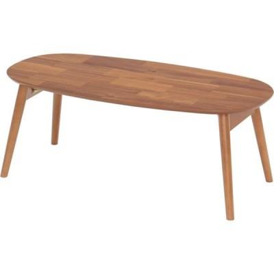 折りたたみテーブル(ローテーブル/コーヒーテーブル) 木製 幅90cm 〔完成品〕