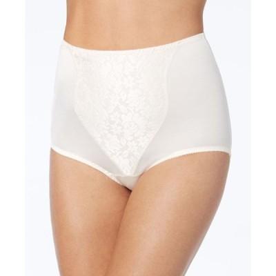 バリ レディース パンツ アンダーウェア Women's Light Tummy-Control Lace Support 2pk Brief Underwear X372