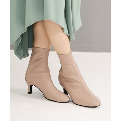 SESTO / センターシームストレッチフィットのバックファスナーショートブーツ☆※ WOMEN シューズ > ブーツ