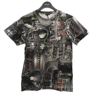 Paul Smith COLLECTION 総柄Tシャツ グレー サイズ:M (明石店) 210227