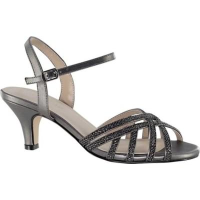 タッチアップ サンダル シューズ レディース Amara Strappy Sandal (Women's) Pewter Glitter Synthetic