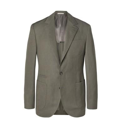 ブルネロ クチネリ BRUNELLO CUCINELLI テーラードジャケット グレー 46 ウール 60% / 麻 40% テーラードジャケット