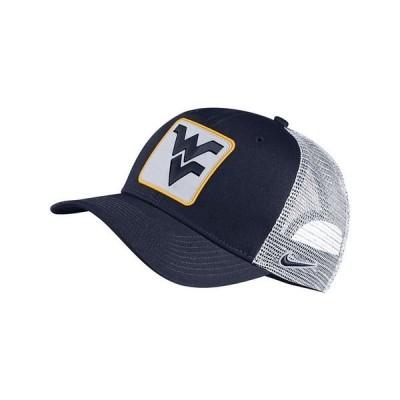 ナイキ 帽子 アクセサリー メンズ West Virginia Mountaineers Patch Trucker Cap Navy/White