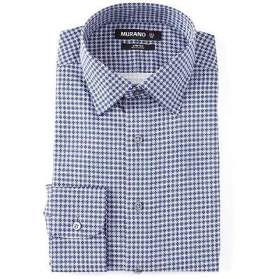 ムラノ メンズ シャツ トップス Slim Fit Spread Collar Printed Dress Shirt