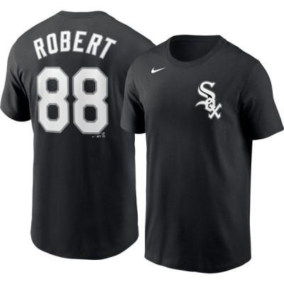 ナイキ Nike メンズ Tシャツ トップス Chicago White Sox Luis Robert #88 Black T-Shirt