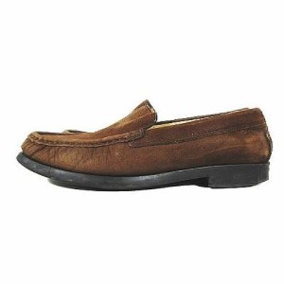 【中古】クラークス clarks スエード ローファー レザー 革靴 シューズ サイズ4 1/2 茶 ブラウン/6 レディース