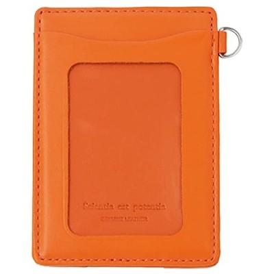 単パスケース ノワール 革 オレンジ NSL-1801(オレンジ, 約 縦103 x 横71 x 厚み5mm *)