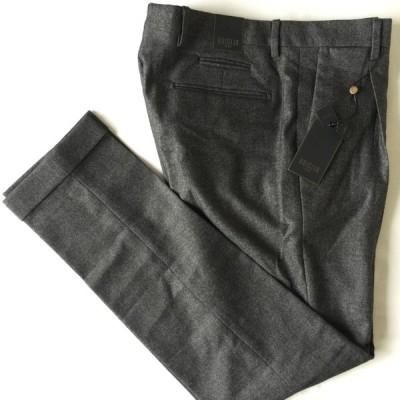 ブリリア BRIGLIA 1949 スラックス パンツ size50 1プリーツ ビジネス バージンウール イタリア スリム