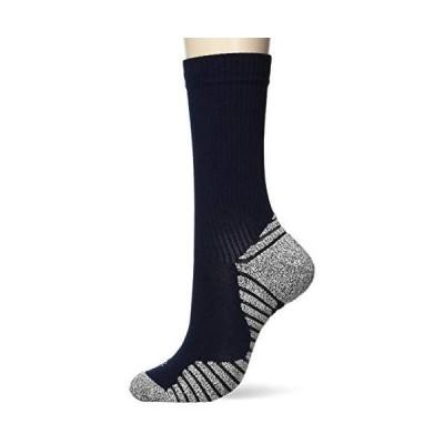 [シースリーフィット] 靴下 グリップパイルミドルソックス ユニセックス (ネイビー L)