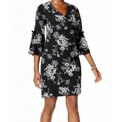 Jessica Howard ジェシカハワード ファッション ドレス Jessica Howard NEW Black Womens Size 14P Petite Floral Shift Dress