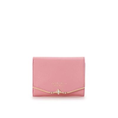 【サマンサタバサプチチョイス】 ジュエルバー 折財布 レディース ピンク ・ Samantha Thavasa Petit Choice
