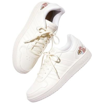Ranan <adidas>アディフープススニーカー ホワイト 20.0cm~ レディース
