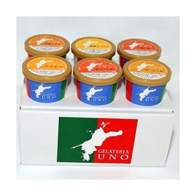 ジェラート専門店ジェラテリアUNO 愛媛産高級柑橘ジェラート アイスクリーム 6個B2セット 紅まどんな せとか デコポン 清見タンゴール