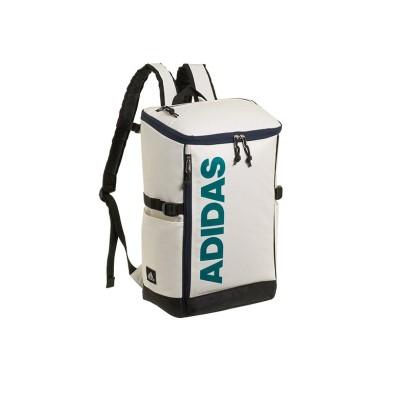 【カバンのセレクション】 アディダス リュック リュックサック 25L スクエア ボックス型 防水 通学 メンズ レディース adidas 62791 ユニセックス ホワイト系1 フリー Bag&Luggage SELECTION