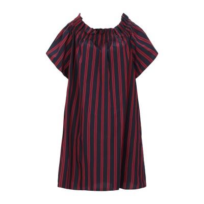 SUOLI ミニワンピース&ドレス ダークブルー 38 コットン 100% ミニワンピース&ドレス