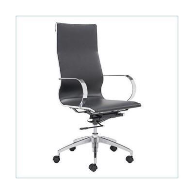 Zuo Glider Hi Back Office Chair, Black並行輸入品