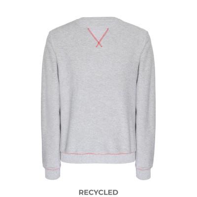 8 by YOOX スウェットシャツ グレー M 再生コットン 52% / ポリエステル 48% スウェットシャツ